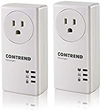 Comtrend 1200Mbps G.hn Powerline Ethernet Adapter with Pass-Through Outlet, 2 Unit Kit, PG-9172PT-KIT