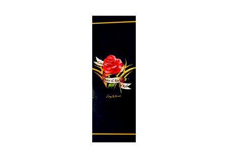 Toalla de playa, toalla de playa, toalla con diseño de, aproximadamente 76 x 152 cm, 100% algodón, con motivo 'Rose' negro