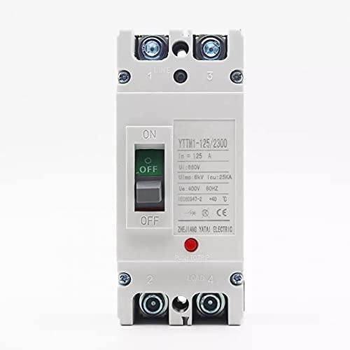 LUOXUEFEI Disyuntor Diferencial Interruptor Disyuntor 2P 400V 32A 40A 63A 80A 100A 125A Interruptor Principal