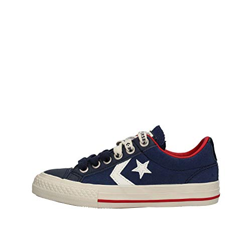 Converse Jungen Unisex-Kinder Lifestyle Star Player Ev Ox Sneakers, Mehrfarbig (Midnight Navy/Egret/Turtledove 471), 28 EU