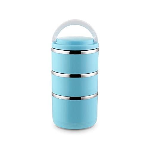 WM home Caja de bento Simple de Acero Inoxidable Caja de Almuerzo con Aislamiento de Acero Inoxidable Barril Caja de Almuerzo Portátil para Estudiantes de Trabajadores de Oficina (Color : C)