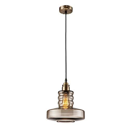 Homemania - Lámpara de Techo Talia, Colgante, Color Negro, Dorado, Ahumado, 25 x 25 x 86 cm