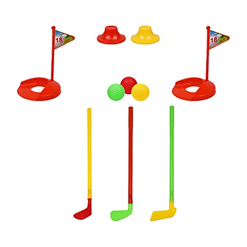 TOYANDONA 2 Sets Kinder Outdoor Sport Spiele Golf Spielzeug Set Pädagogisches Spaß Sport Spielzeug Golf Ball Kit Eltern- Kind Spielzeug für Kinder Indoor Spielzeug ( Zufällige Farbe )