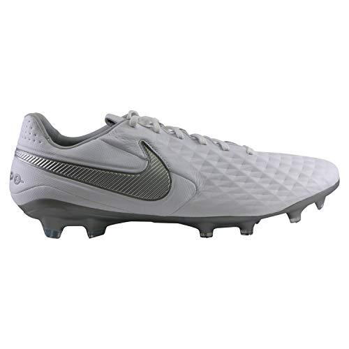 Nike Unisex-Erwachsene Legend 8 Pro Fg Fußballschuhe, Weiß (White/Chrome/Metallic Silver 100), 42 EU