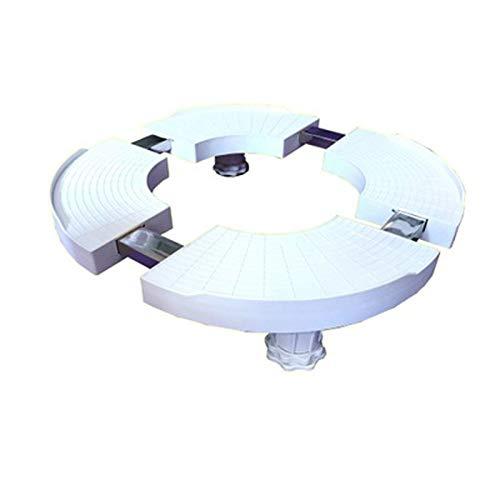 Support de base pour machine à laver, placard mobile plus hauteur socle de réfrigérateur, support fixe pour sèche-linge, climatiseur, équipement lourd, grands pots de fleurs, etc.