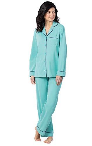 PajamaGram Soft Women PJs Sets - Womens Sleepwear, Turquoise, Large (14-16)