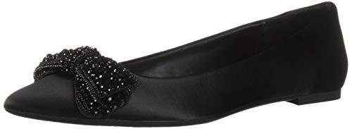 Jewel Badgley Mischka Women's ZANNA Shoe, black satin, 8.5 M US