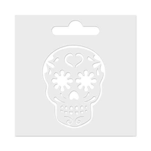 Aladine - Pochoir Pte 3D Tête de Mort - Pour tous les Projets Créatifs, Carterie, Scrapbooking ou Déco - Petit Format 8 x 8 cm