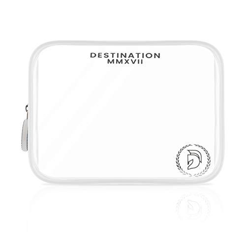 Transparenter Kulturbeutel I Destination® I Handgepäck für Flugreisen I Reiseetui 1 L Volumen durchsichtig I Kulturtasche zum Transport von Flüssigkeiten I Urlaub Zubehör I Beutel Flugzeug I einzeln I