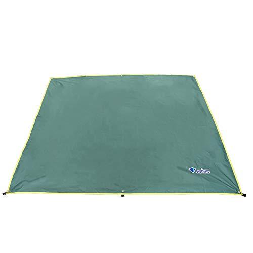 TRIWONDER Lona de Tienda de Campaña Impermeable Anti UV Portátil Ligero Toldo para Camping Playa Picnic al Aire Libre (Verde, S - 150 x 220 cm)