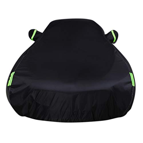 Autoabdeckung Passend für Audi A5 Sonder Car Cover Car Kleidung Sonnenschutz Regenschutz Polyester-Tuch Plus Baumwolle Velvet Car Cover (Color : Black, Size : A)