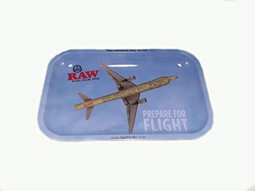 RAW Small Flying Metal Rolling Tray-27,5 x 17,5 cm, blu, M