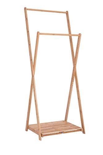 Wonderhome Perchero de pie de bambú Plegable Perchero...