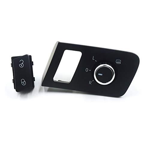 Shutters Botón de Interruptor de Control de Puerta de la Puerta de Saftey Central Fit para Volkswagen VW Touran Caddy 2003-2015 OE: 1T0 962 125B, 1T1 959 565F
