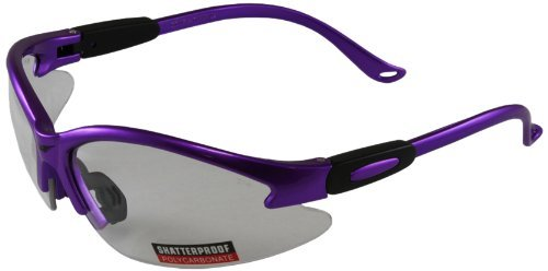 Global Vision Cougar Purple Safety Glasses with Clear Lenses