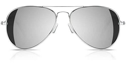 Kendall Jenner Gafas de sol estilo aviador, protección UV, diseño de famosos