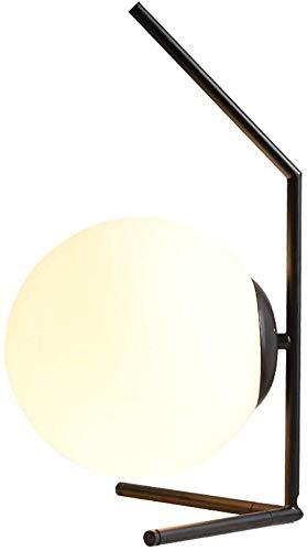 CCHWJX Designtafel van metaal, E27, met glazen bol, bedlampje, bureaulamp, voor woonkamer, hotel, familie