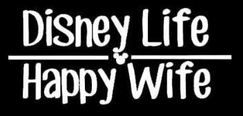 Makarios LLC Disney Life Happy Wife Cars Camiones Vans Paredes Laptop MKR | Blanco | 6.5 x 2.75 | MKR986