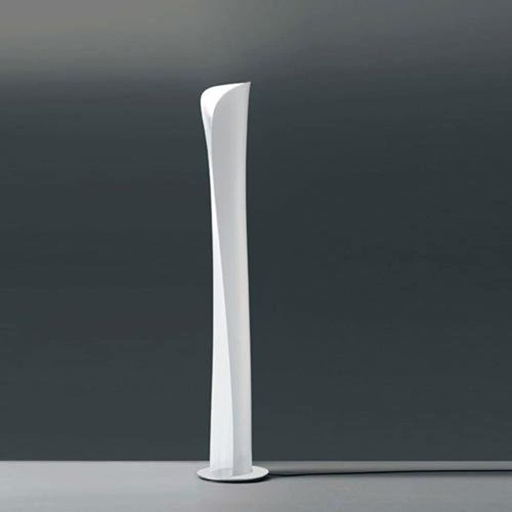 Artemide cadmo, lampada da terra,un foglio d`acciaio avvolge e sprigiona una morbida luce 0692020A