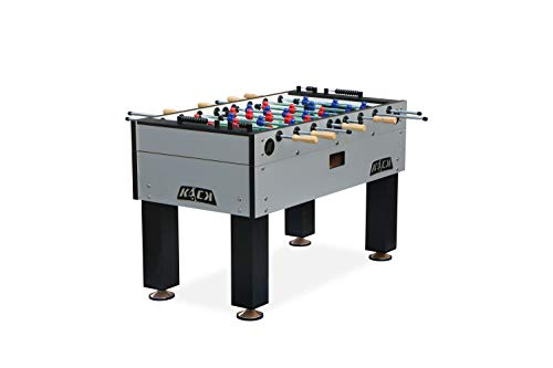 KICK Titan 55″ in Tournament Foosball Table (Grey)