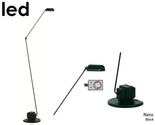 Lumina Daphine Terra LED Stehleuchte, schwarz Metall Zweistufenschalter 3000K mit Dimmer