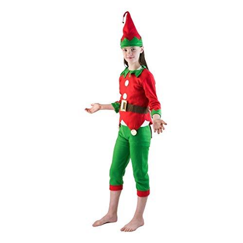 Bodysocks Fancy Dress Disfraz de Elfo Pequeño Ayudante de Santa Claus para Niños (4-6 años)