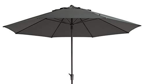 Mad Absolut wetterfester Gartenschirm Timor Luxe 400 grau, mit Kurbel, UV-Schutz 50 Plus