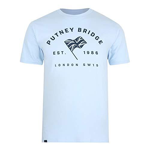 Putney Bridge Enfield Camiseta, Azul (Light Blue LTB), XL para Hombre