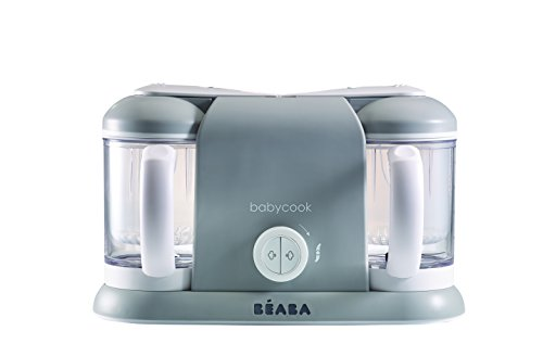 BEABA Babycook Plus 4 in 1 Steam Cooker and Blender, 9.4 cups, Dishwasher Safe, Cloud