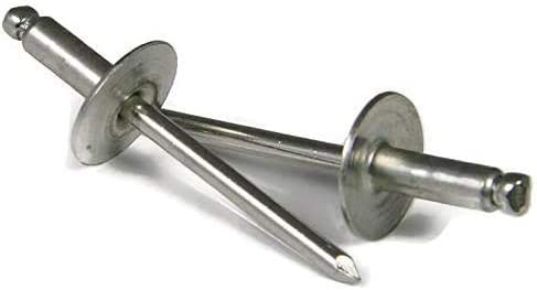 Shorpioen 100-Pack 1 8 x .06-.12 Flange Large Max 47% OFF Rivet Aluminum Ranking TOP16 wit