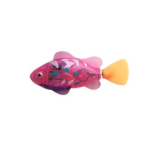 Eléctrico Natación Pescado con Luces LED ABS Motorizado Agua Robots Peces Bebé Baño Juguete Agua Juego para Niños Juguetes Regalo