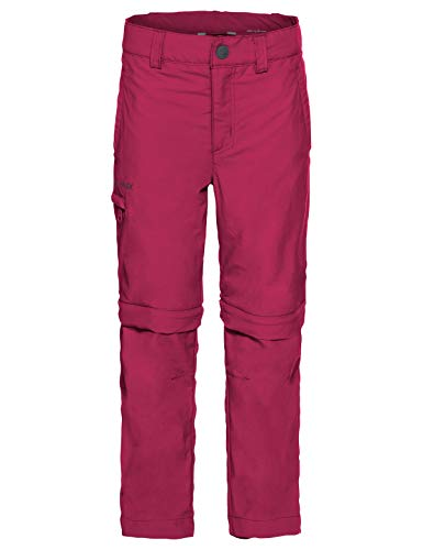VAUDE Kinder Hose Kids Detective Zip-Off Pants II, Abzippbare Kinderhose mit UV-Schutz, crimson red, 158/164, 050589771640
