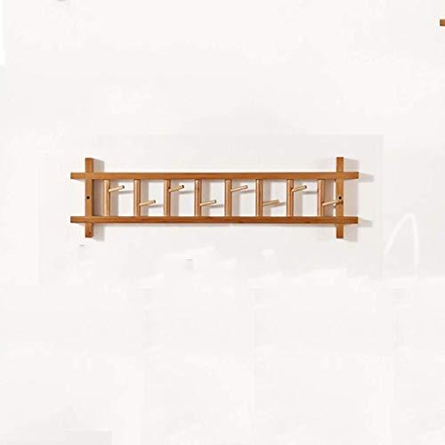 BALLYE Holzgarderobe, Garderobenhalter an der Wand, geeignet für Haken in Küche, Schlafzimmer, Badezimmer, für Jacken, Tops, Schals, Handtücher