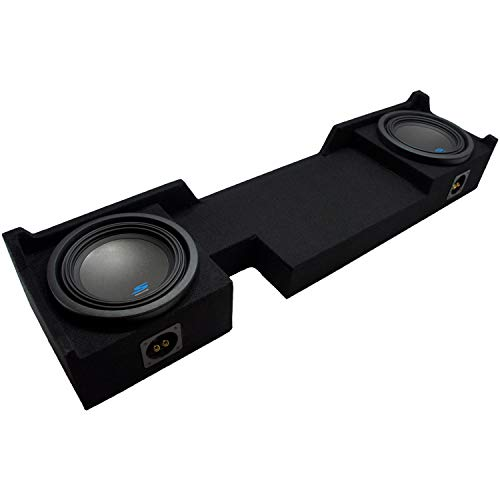 "Compatible with 2004 2005 2006 2007 2008 Ford F-150 Ext Super Cab Truck Alpine S-W10D2 Type S Car Audio Subwoofers Custom Dual 10"" Sub Box Enclosure Package"
