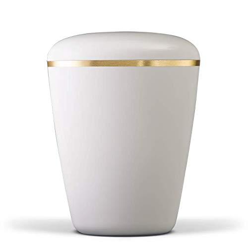 Crema blanca cremosa con banda dorada biodegradable funeral ...