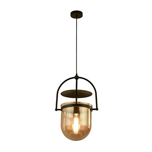 E14 cosecha colgando colgante de piedra rayada Cortina de cristal metálicas Industrial antiguo retro estilo Loft Cafe cabecera del dormitorio de la lámpara