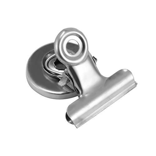 Houkiper Imán Clip Mensaje 3cm Clip Metal Nevera Clip Pared Memo Creativo Refrigerador Plata Nota Imán