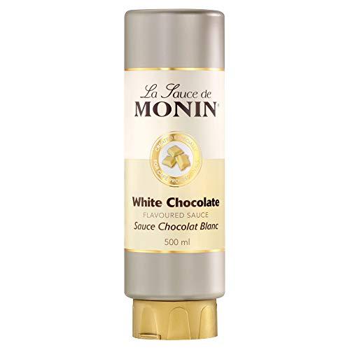 Monin Chocolat Blanc aromatisé Sauce 500 ml – Lot de 6 – Riche, velouté Sauce pour boissons et dessert