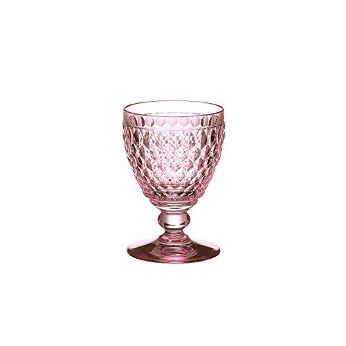 Villeroy & Boch Boston Coloured Verre à Vin Blanc Rose, 230 ml, Cristallin, Rose