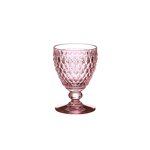 Villeroy & Boch Boston Coloured Weißweinglas Rose, 230 ml, Kristallglas, Rosa