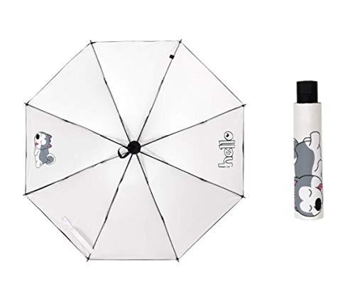 MEILE Parapluie Parasol Pluie Parapluies Pliables pour Fille Femmes Parapluies Coupe-Vent Protection Solaire Crème Solaire A