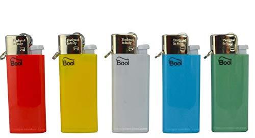 Maelsa - Lot de 5 briquets porte clé couleur aléatoire selon disponibilité