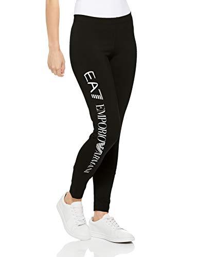 Emporio Armani Damen Train Core Leggings, schwarz/weiß, X-Groß