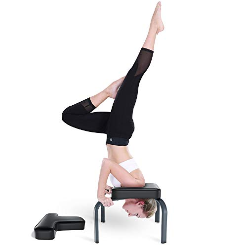 Best Price Yoleo Headstand Bench-Yoga Inversion Chair-Headstand Stool-Ideal for Workout, Fitness and...