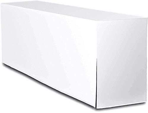 TexDeko Biertischhusse Premium nur Tisch 220 x 70cm Weiss