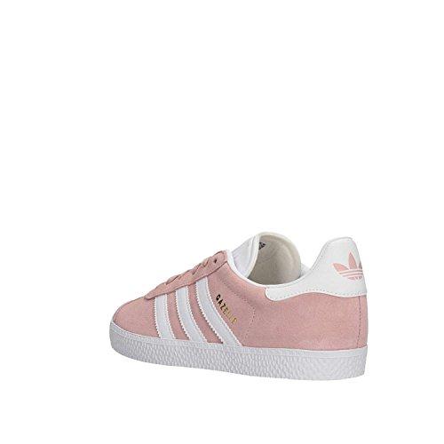 Adidas Gazelle J, Zapatillas de Gimnasia Unisex Adulto, Rosa (Icey Pink F17/Ftwr White/Gold Met. Icey Pink F17/Ftwr White/Gold Met.), 38 2/3 EU