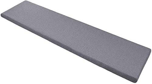 Cojín grueso de banco de 2 3 plazas para interiores y exteriores, 100/120/150 cm, cojín de banco largo para sillas de comedor y patio (70 x 30 cm, gris oscuro)