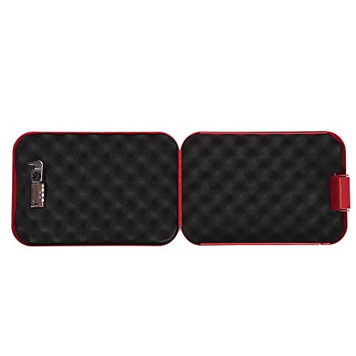 Caja de seguridad, caja de almacenamiento sin llave, caja de almacenamiento portátil antirrobo, escritorio de hojas de acero laminado en frío para el hogar, mostrador de oficina(rojo)