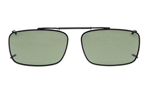 Eyekepper Metal Frame Rim Polarized Lens Clip En Gafas De Sol 54 * 34MM