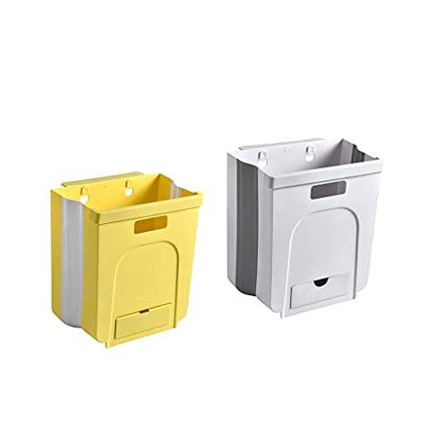 Papeleras 2 pack colgando la basura de la cocina puede plegable portátil...